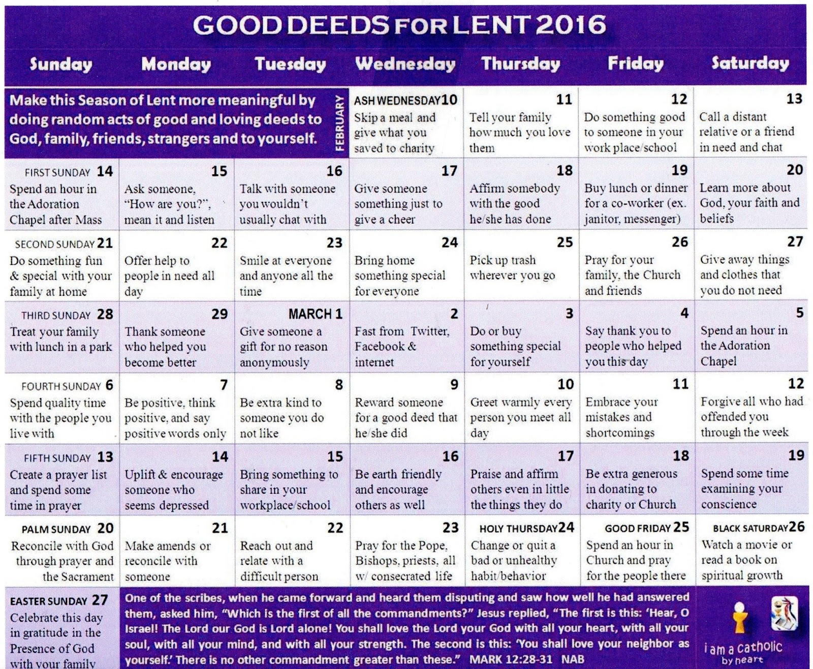 Lent A Season Of Love
