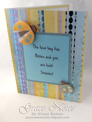 Love Bug engagement card by Grace Baxter