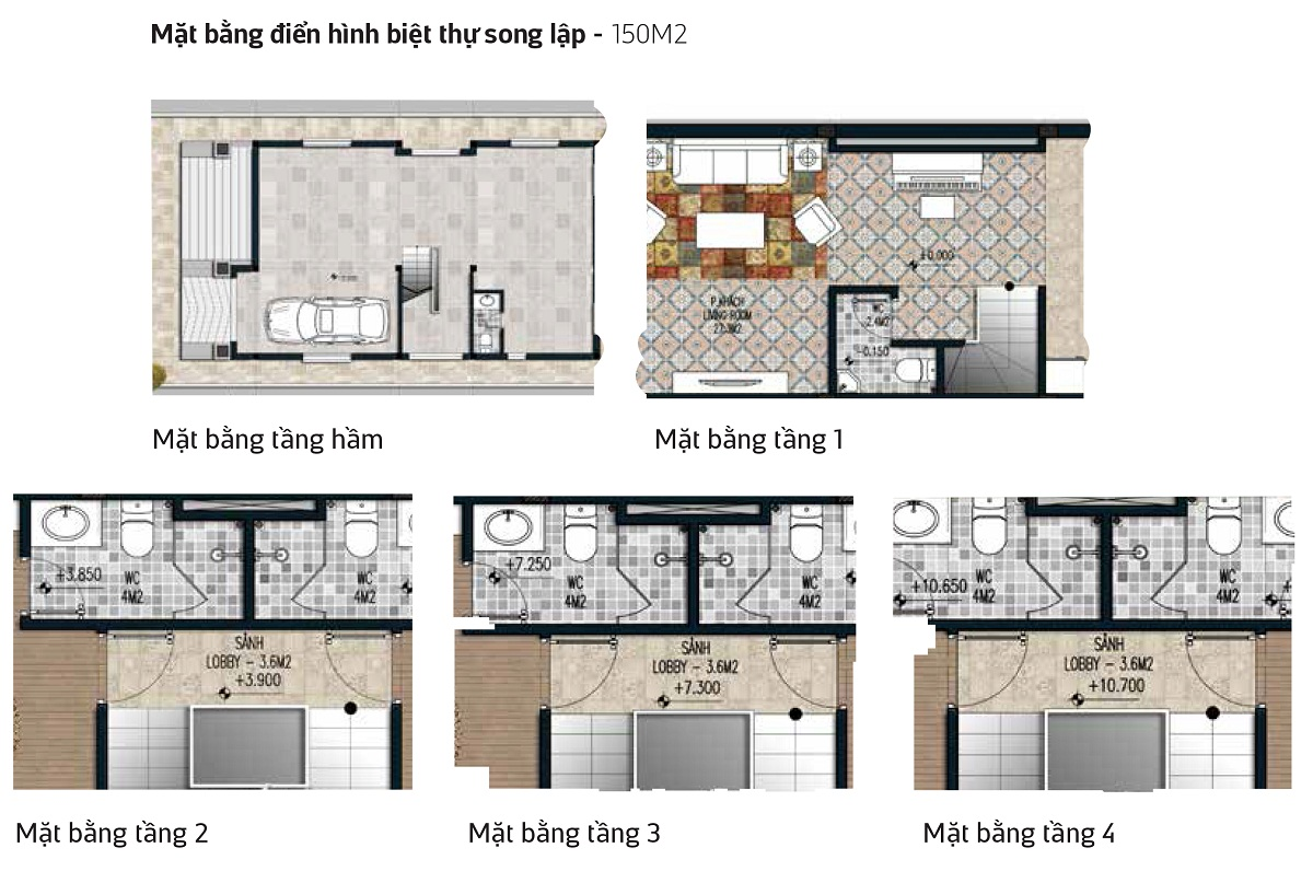 Thiết kế Biệt Thự Song Lập Tây Nam Kim Giang