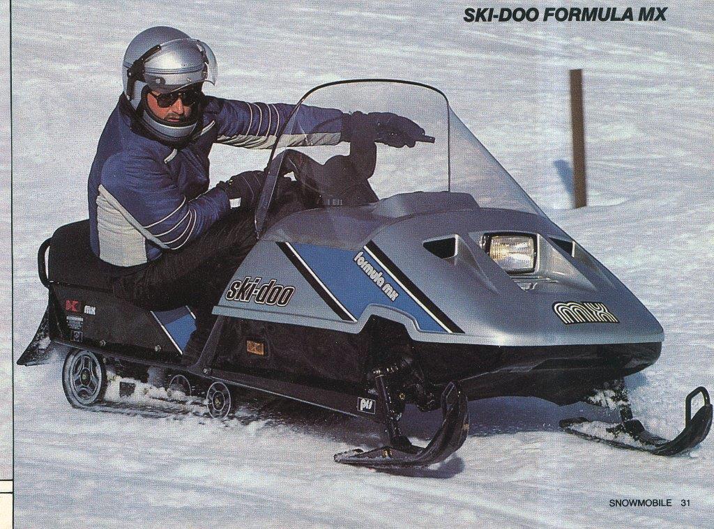 1987 SKI DOO FORMULA MX SNOWMOBILE
