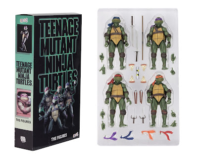 San Diego Comic-Con 2018 Exclusive Teenage Mutant Ninja Turtles 1990 Movie Action Figure Box Set & Street Scene Diorama by NECA