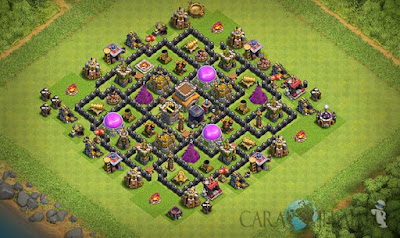 Base Hybrid TH 8 Clash Of Clans Terbaru Tipe 26