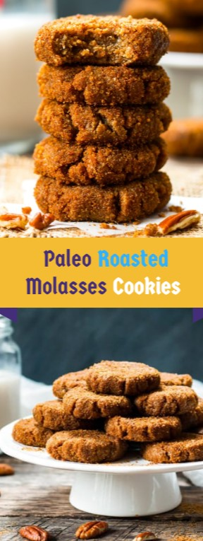 Paleo Roasted Molasses Cookies