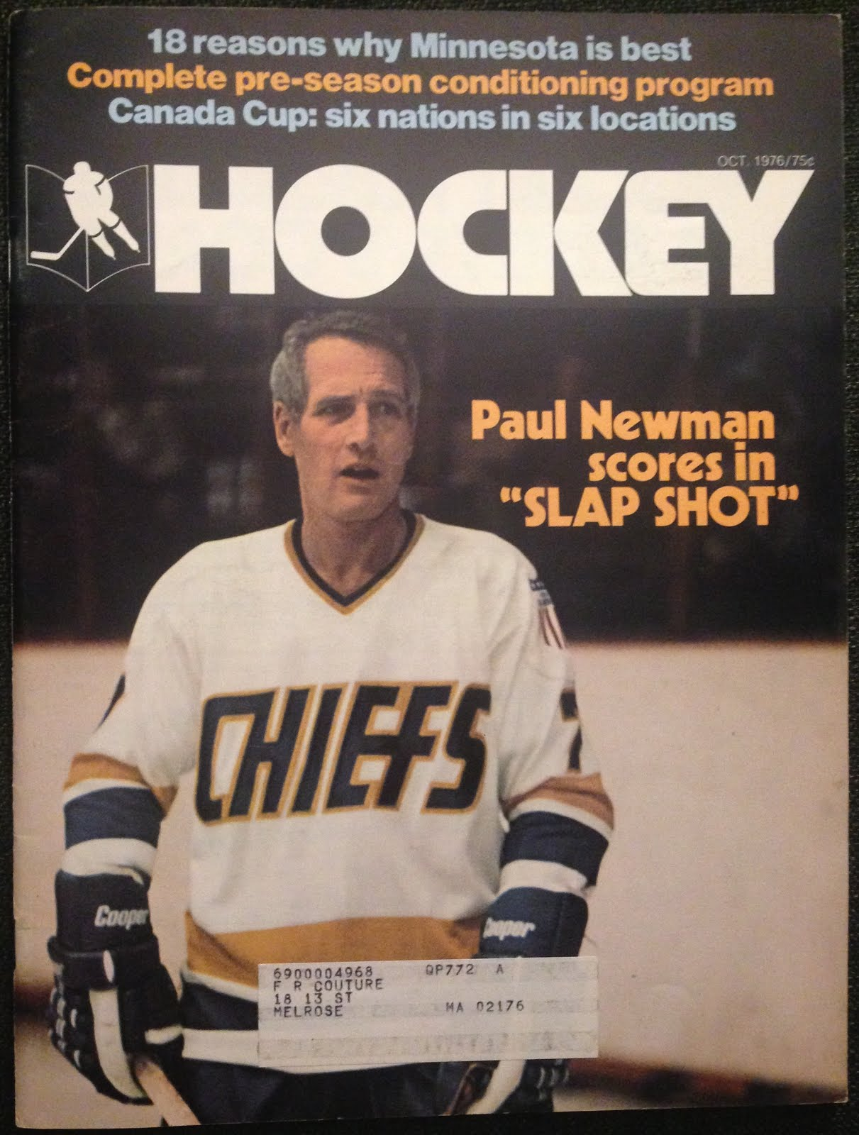 4f076735306 Slap Shot was such a huge deal in the hockey world in 1977 that even the  Pro Hockey Handbook annual jumped in on the action putting Reg Dunlop on  the cover ...