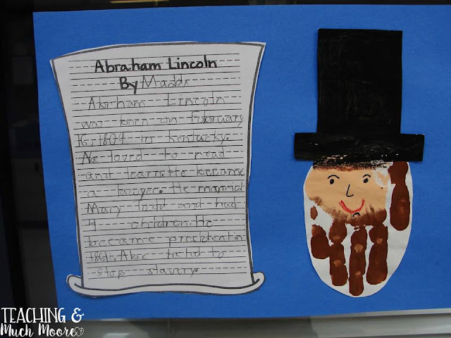 abe lincoln handprint craft, craft