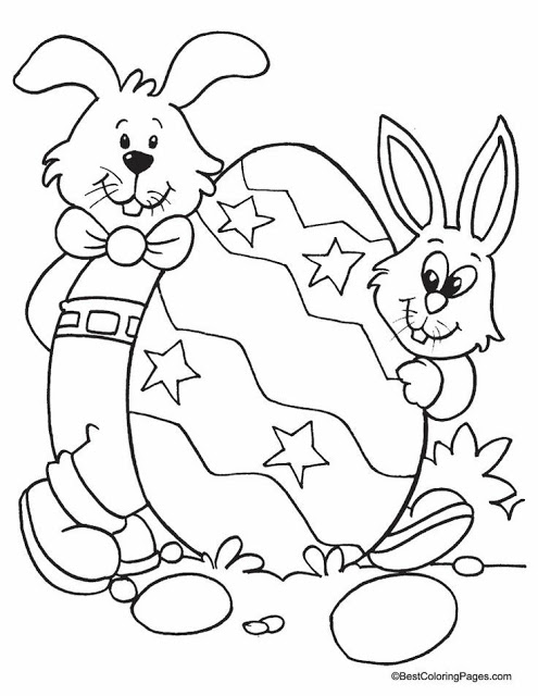 Free Easter Eggs Bunny Coloring Pages 2021(3)