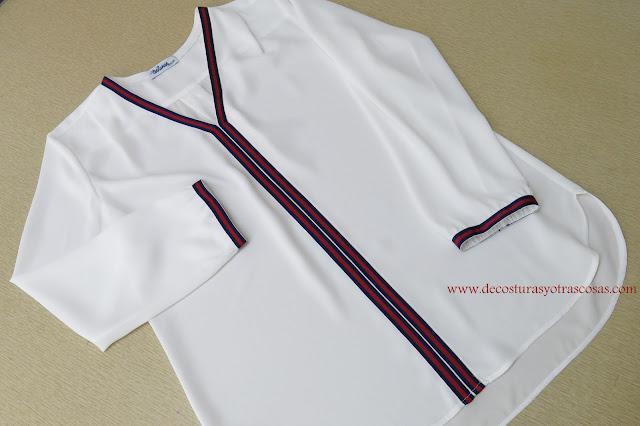 como hacer una blusa sedosa con canesú