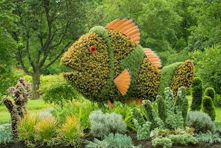 топиарные скульптуры,зеленые фигуры