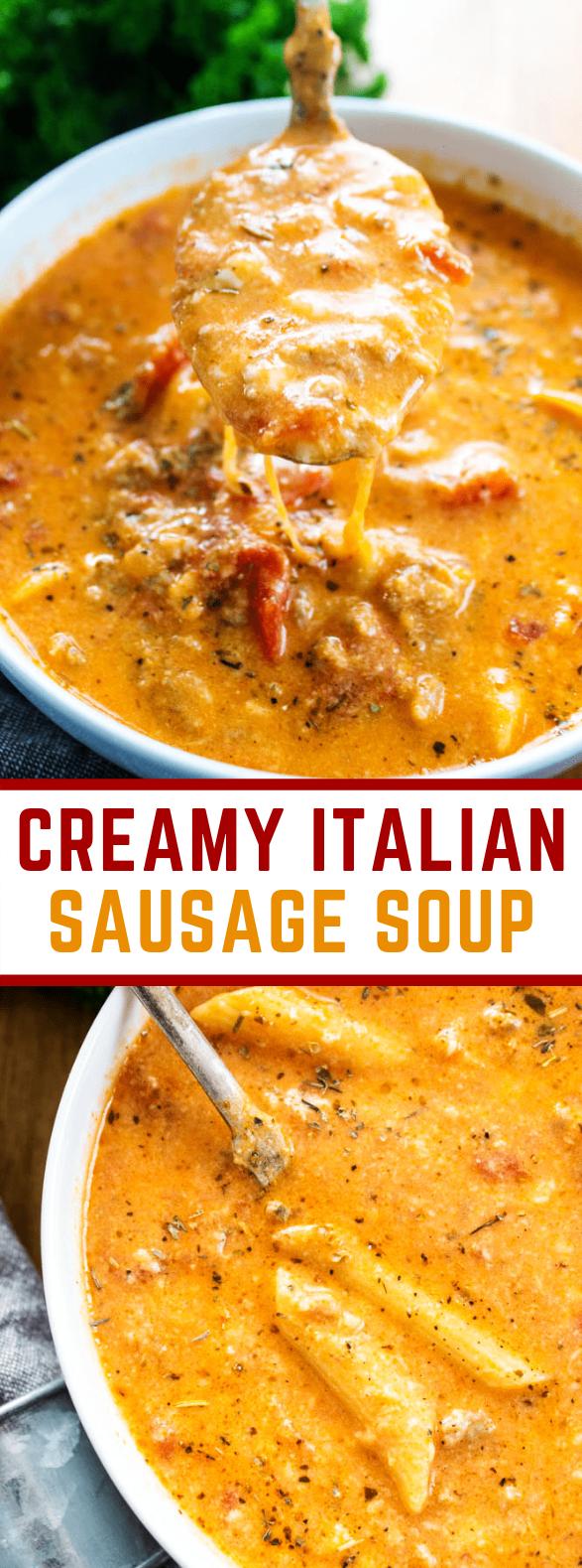CREAMY ITALIAN SAUSAGE SOUP #dinner #familydinner