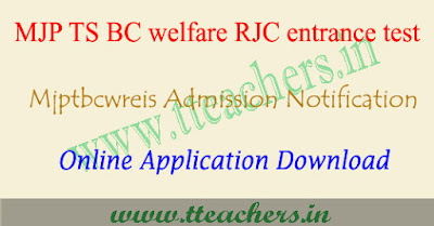 Mjptbcwreis notification 2018, MJPRJC CET 2018 inter admissions