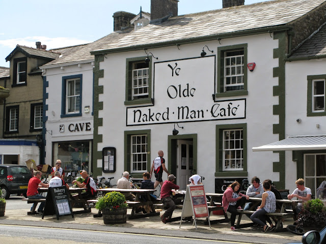 Ye olde naked man pub in the town of Settle the Yorkshire Dales