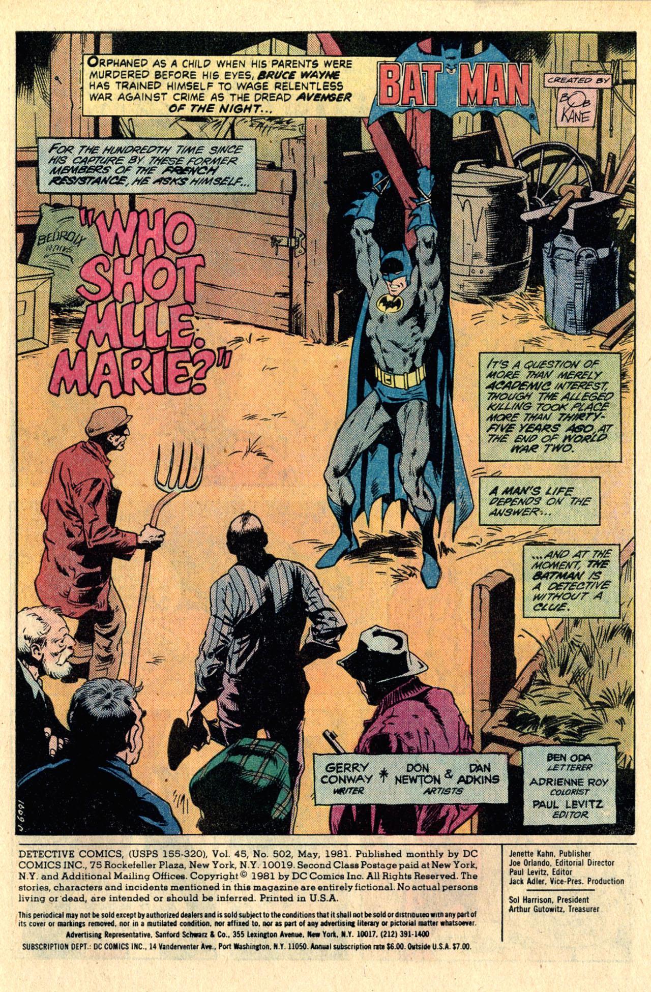 Detective Comics (1937) 502 Page 2