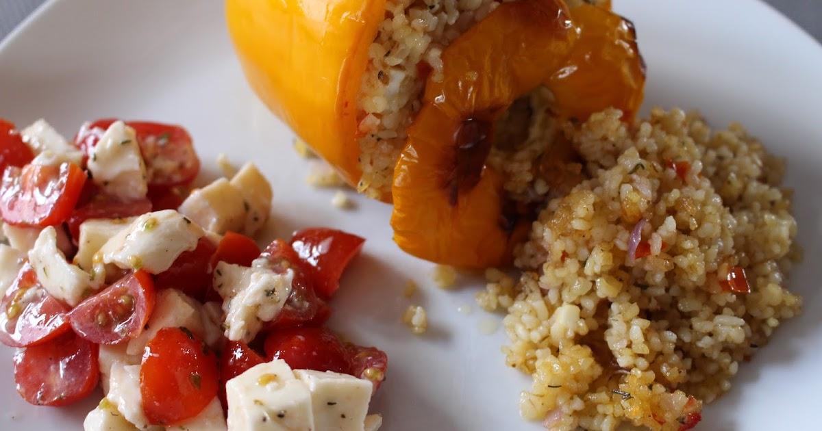 Le blog de mel poivrons farcis au boulgour - Que cuisiner avec des poivrons ...