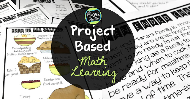Project based learning, PBL, Thanksgiving, math projects, problem solving, elapsed time, Thanksgiving math, fourth grade, fifth grade, math workshop