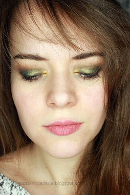 makijaż zielony