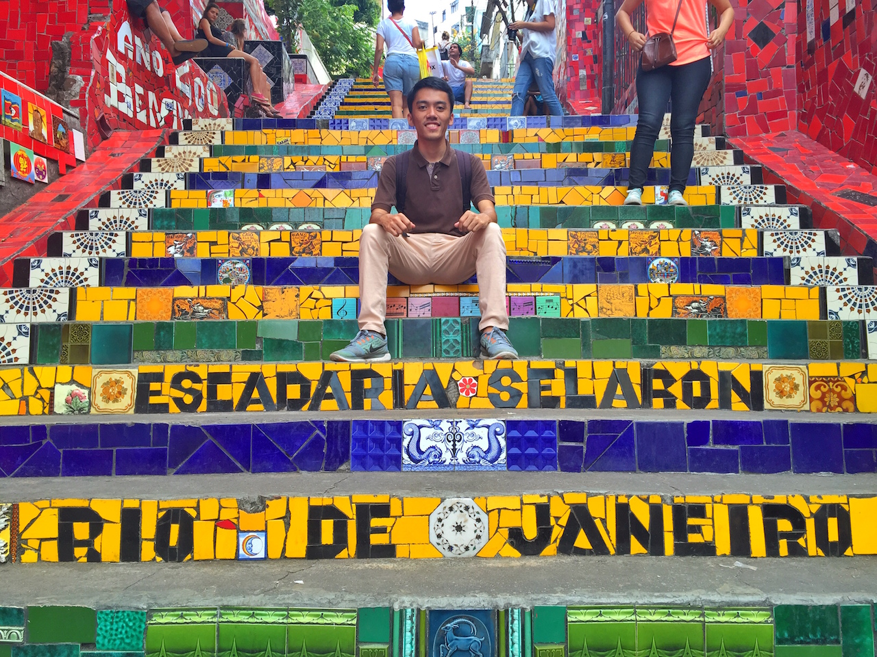 The Long Way to South America: Escadaria Selaron Rio de Janeiro Brazil