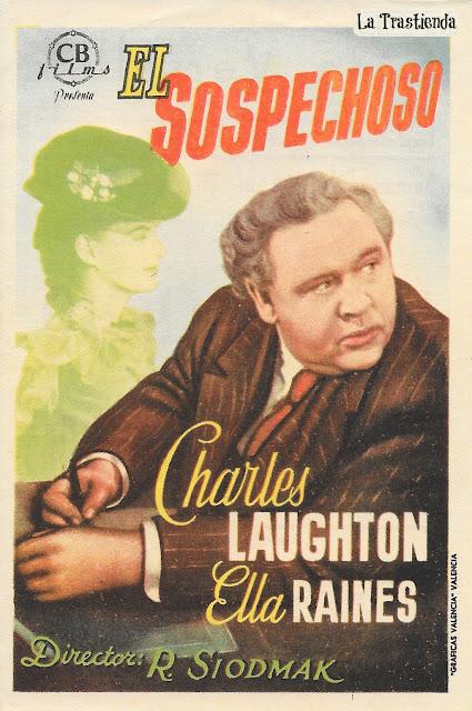 Programa de Cine - El Sospechoso - Charles Laughton - Ella Raines