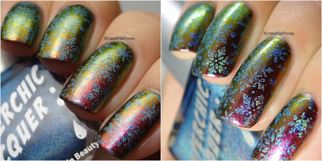 Heather's Hues Vibrance, Lina Nail Art Supplies Winter 01 & Superchic Lacquer Dopamine