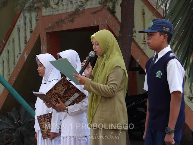 Pelantikan OSIS dan MPK MTsN 1 Probolinggo Masa Bhakti 2017/2018