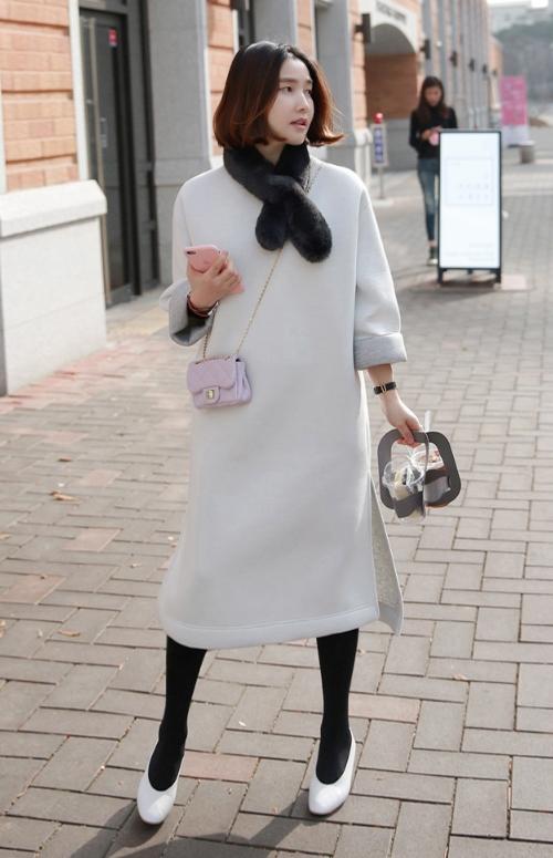 Loose Neoprene Midi Dress