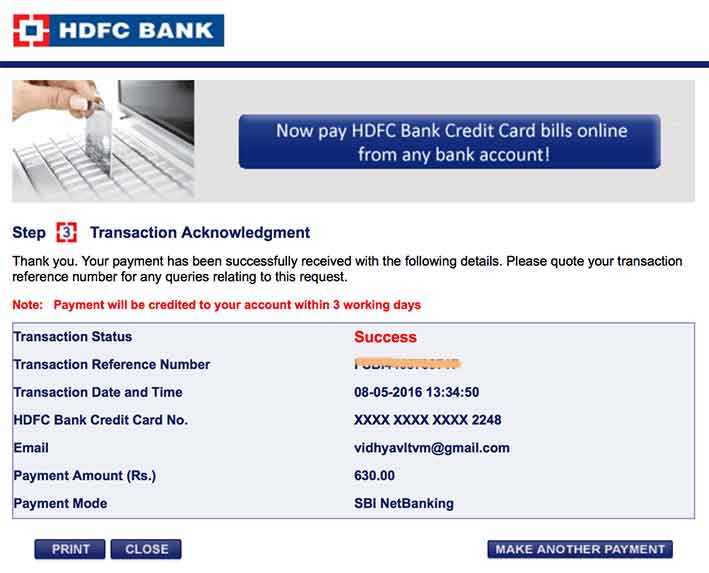 citibank credit card payment billdesk through net banking