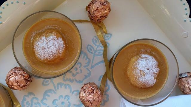 crema caramelo nata cuajada sin horno fácil rápido rico profiteroles choux vasito individual postre navidad fiesta celebración