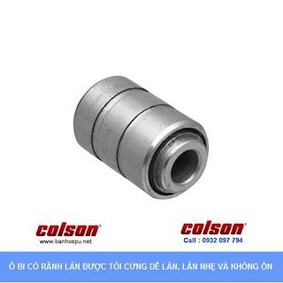 Bánh xe công nghiệp Nylon 6 cùm đứng sử dụng ổ bi chịu tải 122kg | S2-4258-255C www.banhxepu.net