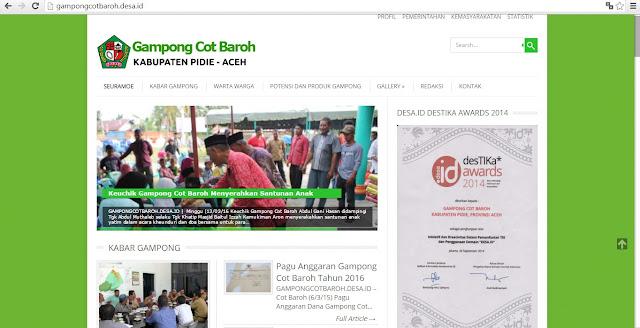 Sistem Informasi Gampong Cot Baroh