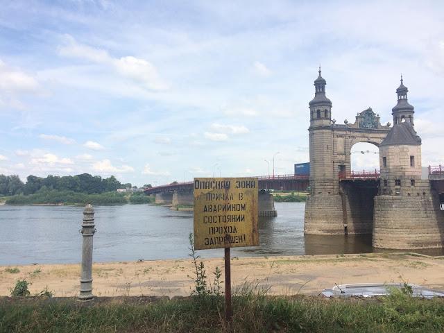 Die Grenzbrücke zwischen Litauen und der Region Kaliningrad. (Foto: Paul Flückiger)