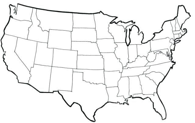 Printable USA Blank Map PDF