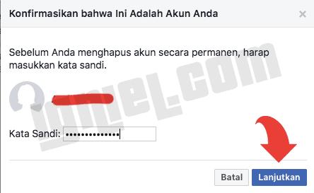 Tutup Akun FB Selamanya Secara Permanen Lewat HP