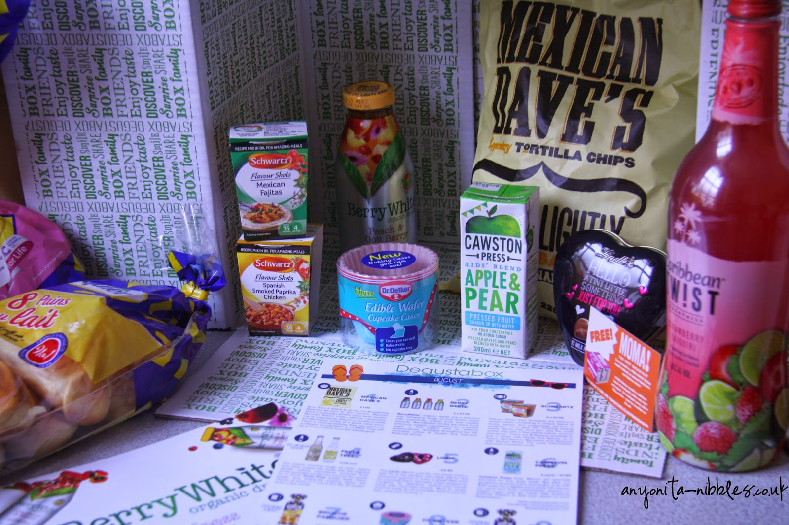 Degustabox provides a variety of groceries to your door | anyonita-nibbles.co.uk