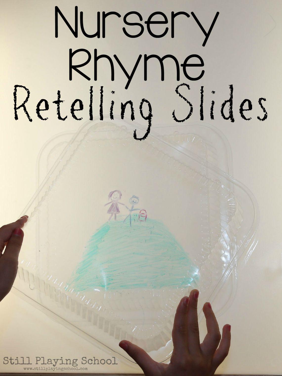 Nursery Rhyme Retelling Slides On The Light Table