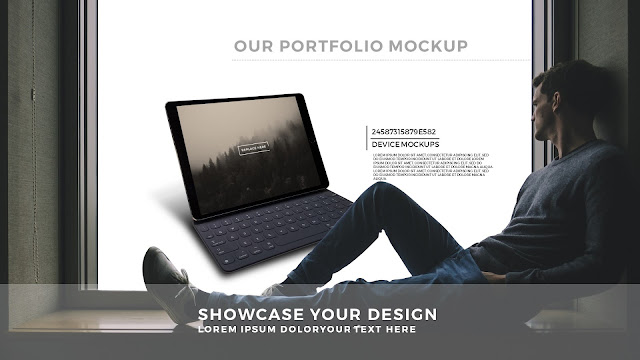 Free PowerPoint Template with Outside The window Screen Mockup Slide 4