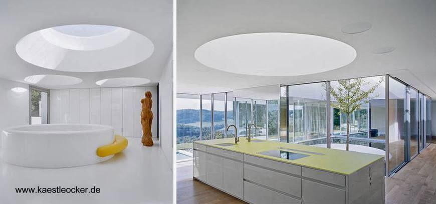 Dos vistas del interior de la casa Minimalista en Stuttgart