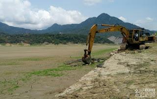 枯水期加速水庫清淤作業