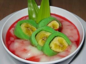 Resep es pisang ijo