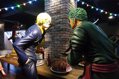 Sanji and Zoro at Tokyo One Piece Tower Japan