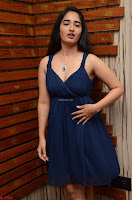 Radhika Mehrotra in a Deep neck Sleeveless Blue Dress at Mirchi Music Awards South 2017 ~  Exclusive Celebrities Galleries 034.jpg