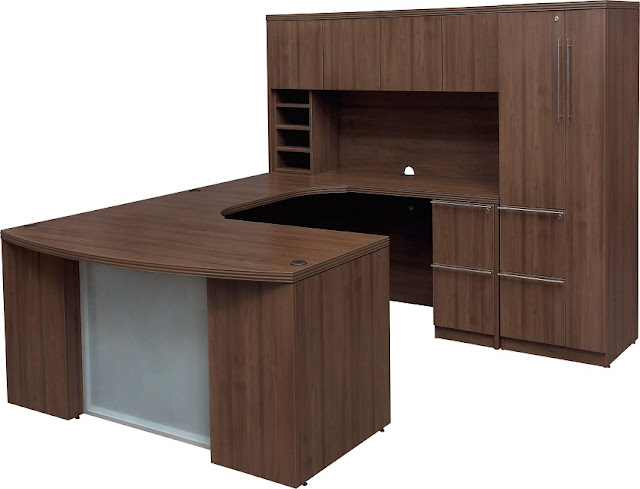 best modern wood home office desk u shaped with hutch