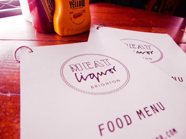 menu covers at MEATLiquor, Brighton