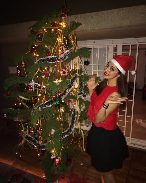 Actress lakshmi Rai Christmas Pic