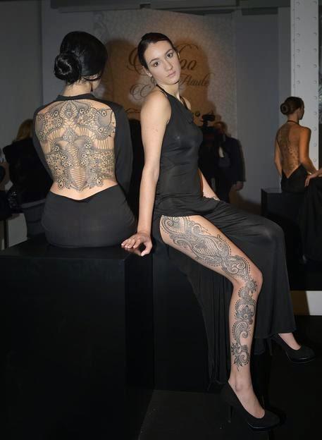 3c67a7c5b8f6 Al Museo Maxxi di Roma i tatuaggi merletto di Marco Manzo