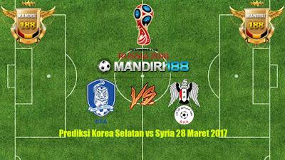 AGEN BOLA -Prediksi Korea Selatan vs Syria 28 Maret 2017