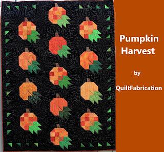 Pumpkin Harvest quilt by QuiltFabrication