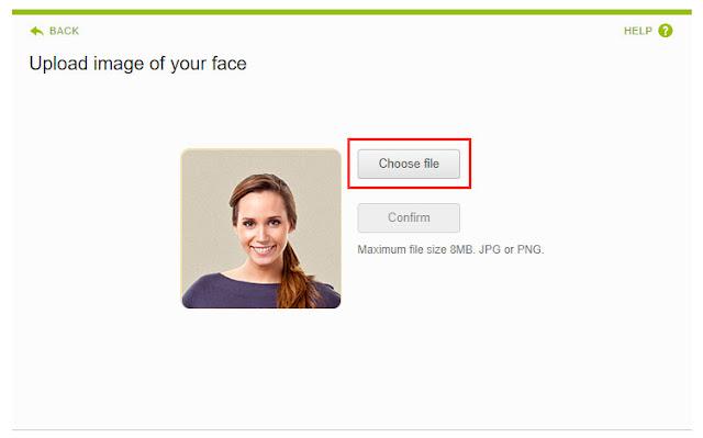 自分の顔写真をアップ