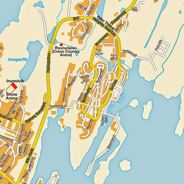 Nuuk center map - Greenland