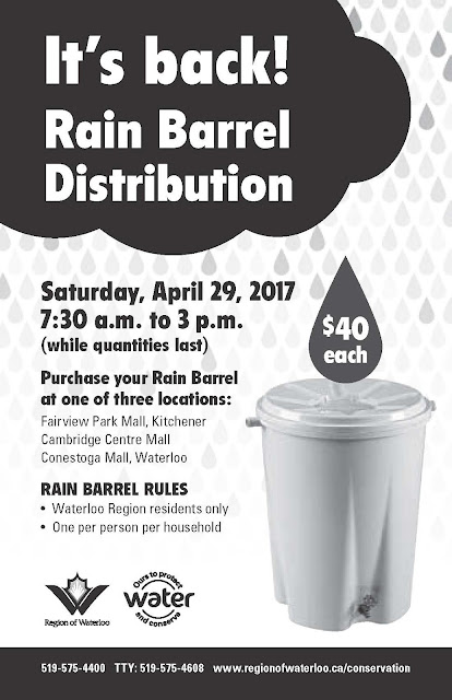 Rain Barrel Distribution Poster