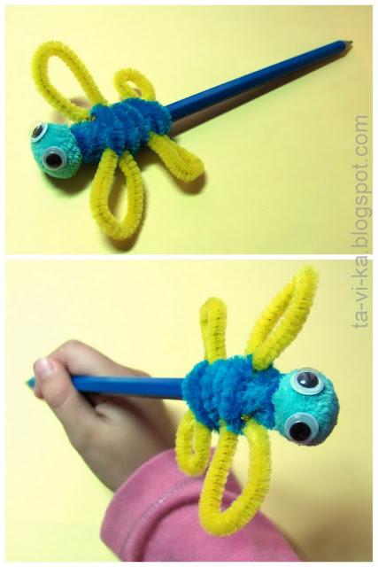насадка на карандаш - стрекоза