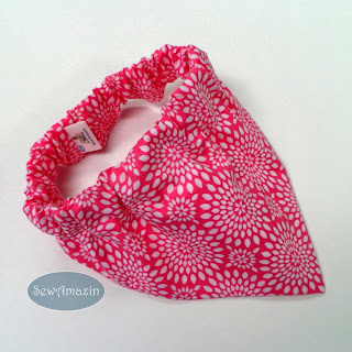 Pink with White Flower Medallions Dog Bandana
